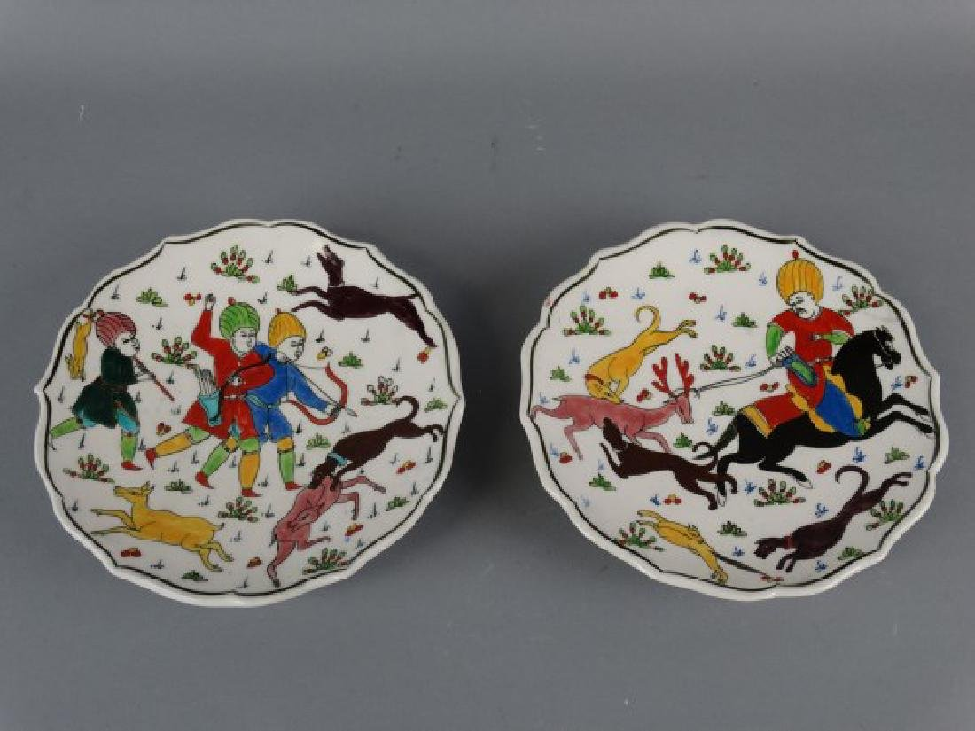Lot of 2 Painted Plates from Turkey