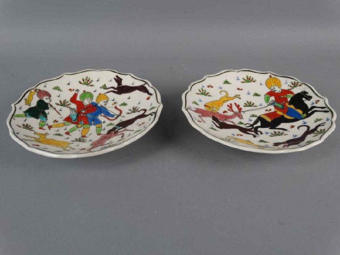 Lot of 2 Painted Plates from Turkey - 2