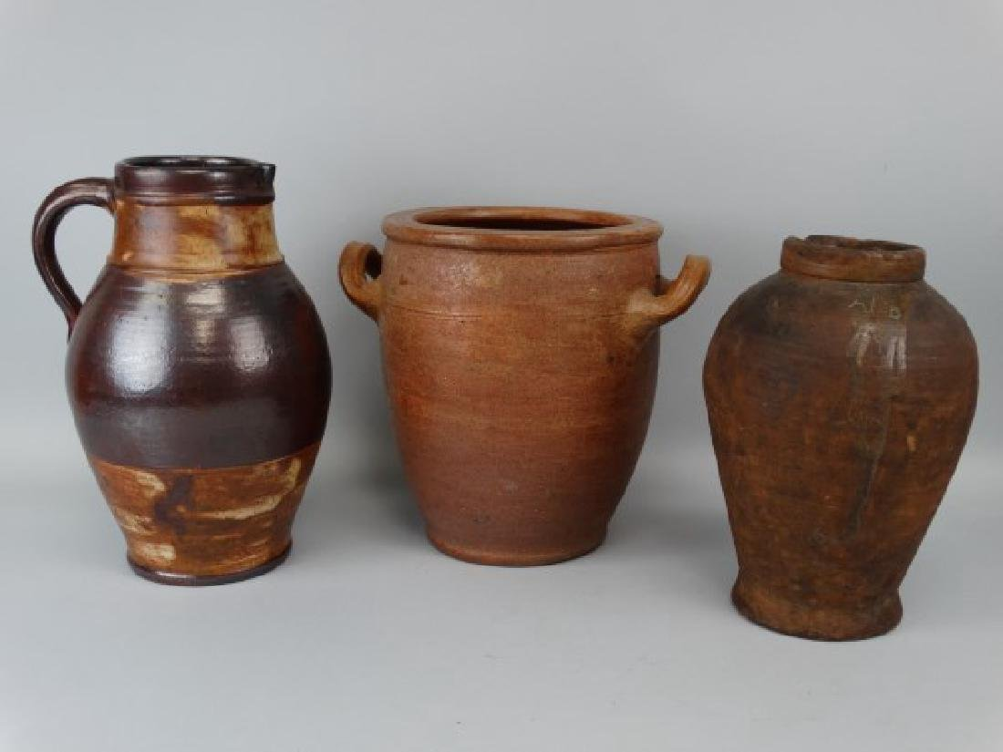 Group of 3 Pottery Vessels