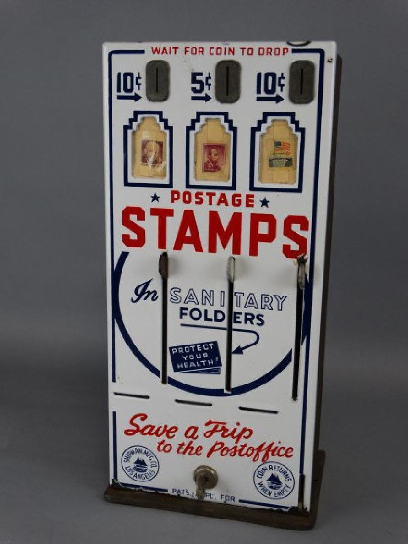 Vintage Porcelain Stamp Machine - 2