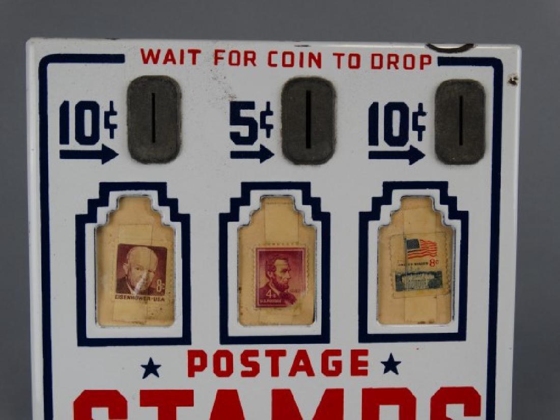 Vintage Porcelain Stamp Machine - 3