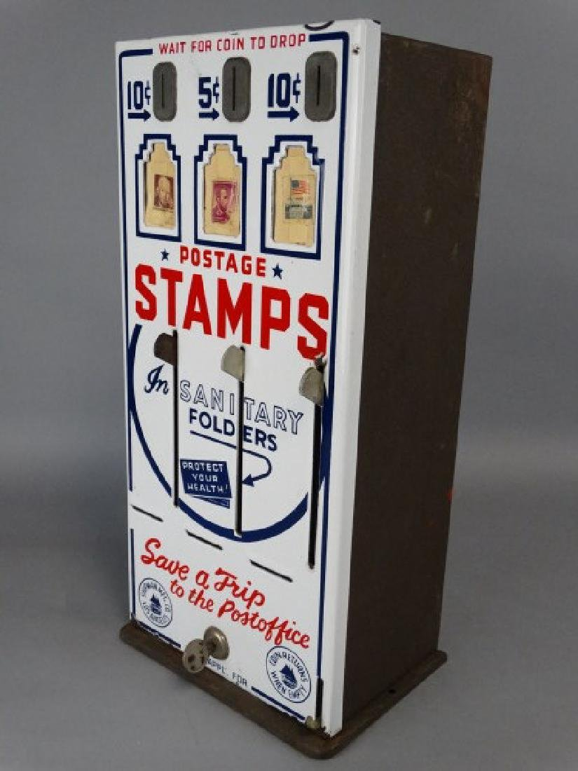 Vintage Porcelain Stamp Machine - 4