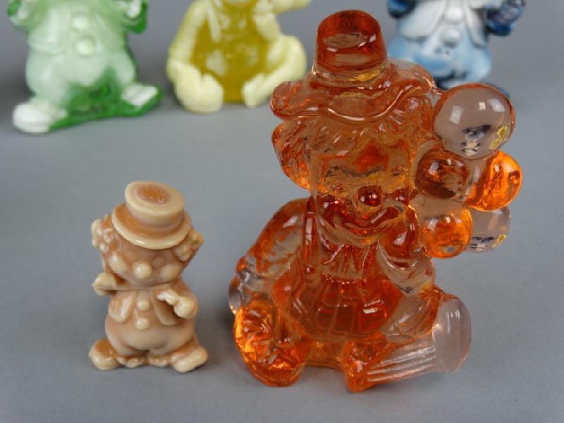 Lot of 8 Vintage Slag Glass Clowns - 4
