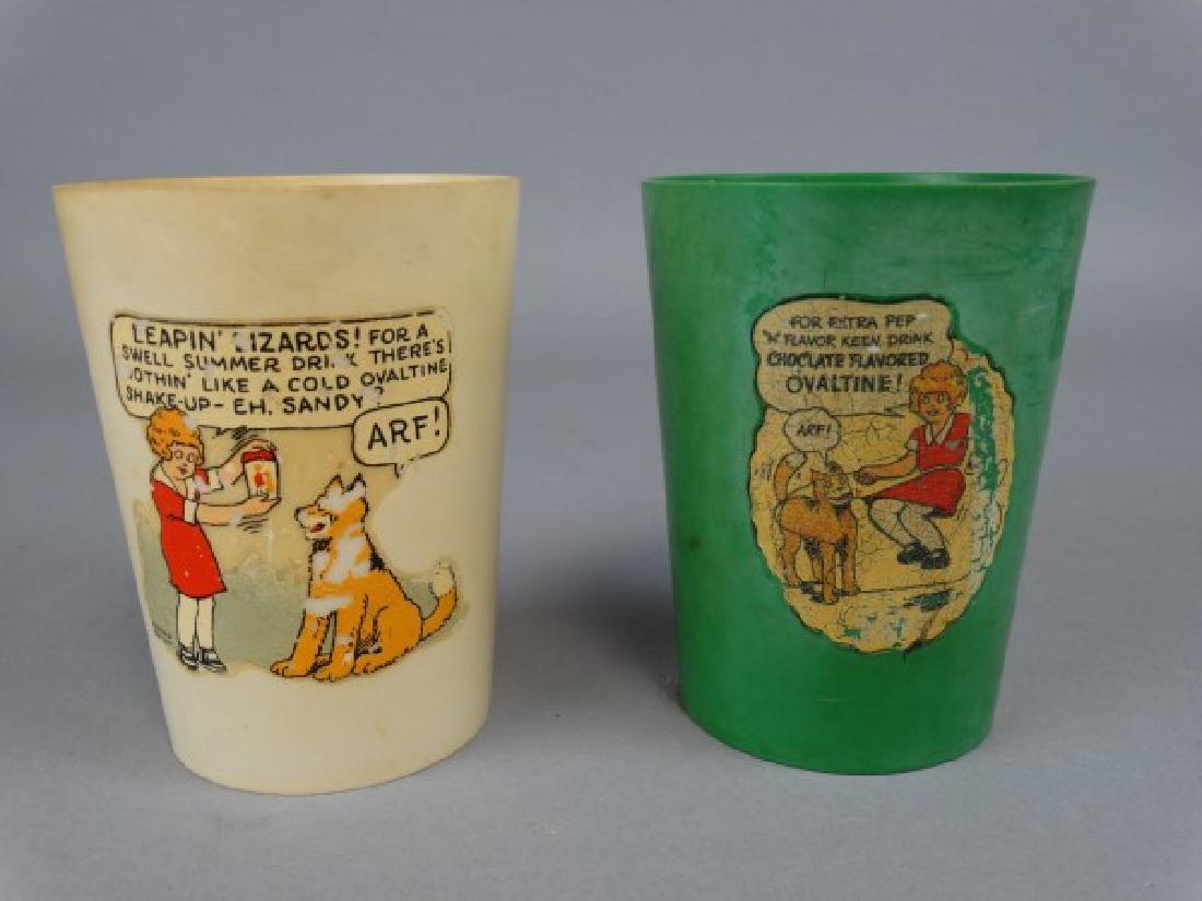 Lot of 2 Vintage Little Orphan Annie Juice Cups