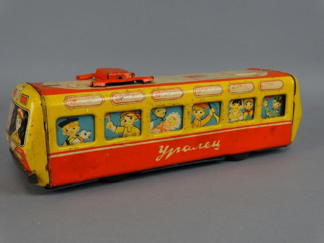 1950s Russian Tin Child's Toy Trolley - 2
