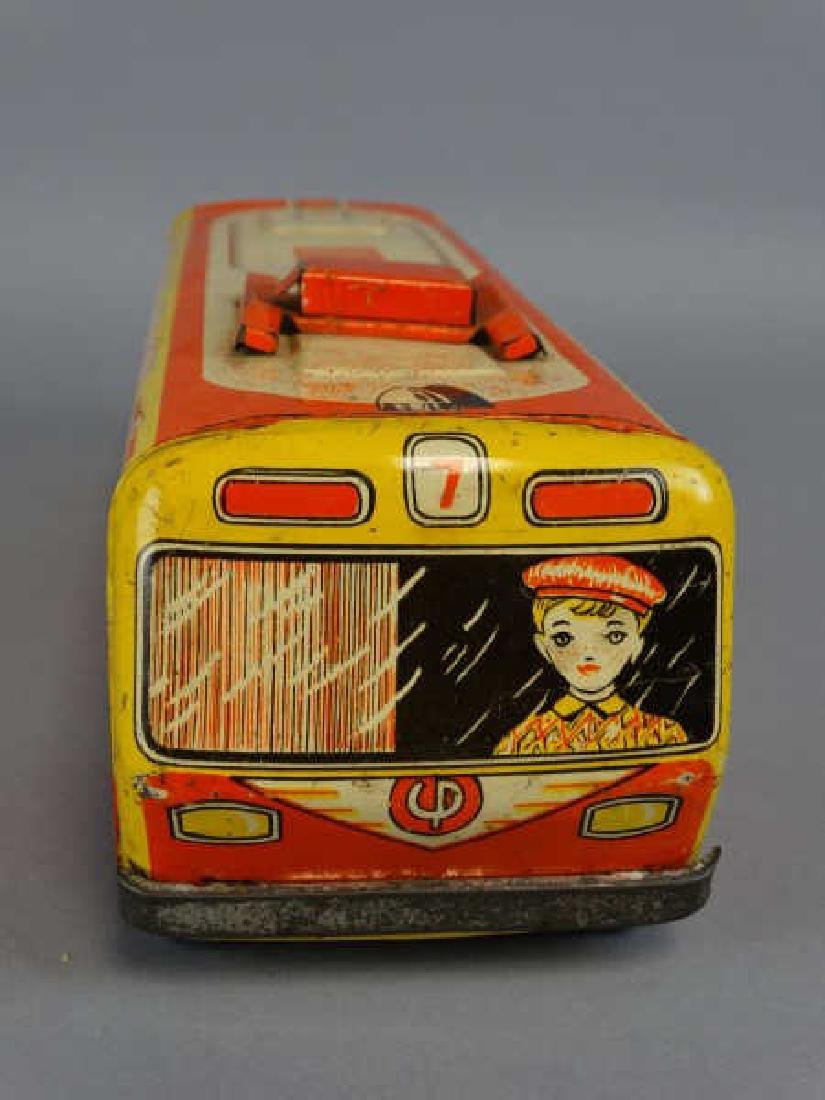 1950s Russian Tin Child's Toy Trolley - 3