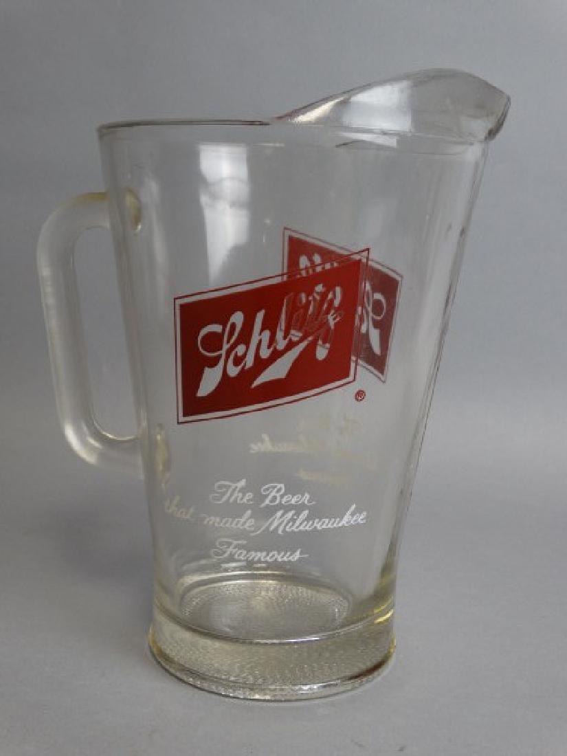 Vintage Schlitz Glass Pitcher