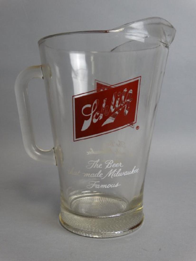Vintage Schlitz Glass Pitcher - 3