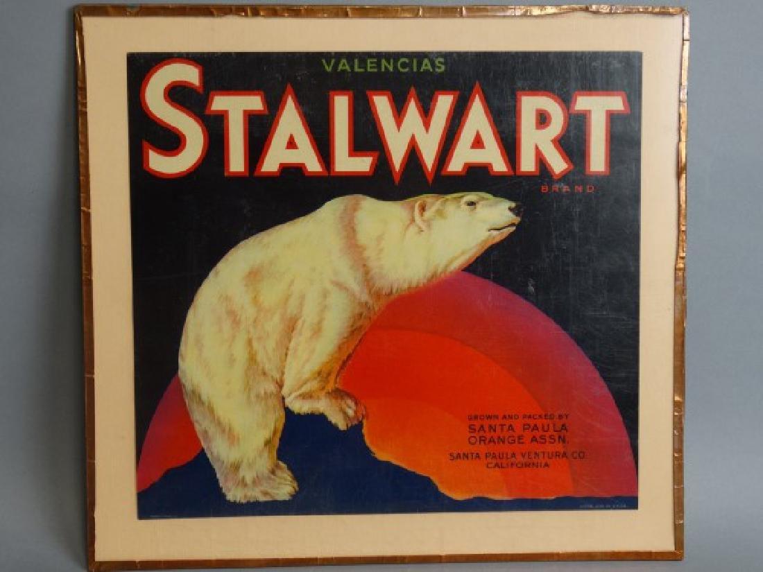 Original Fruit Crate Label - Stalwart Brand Orange