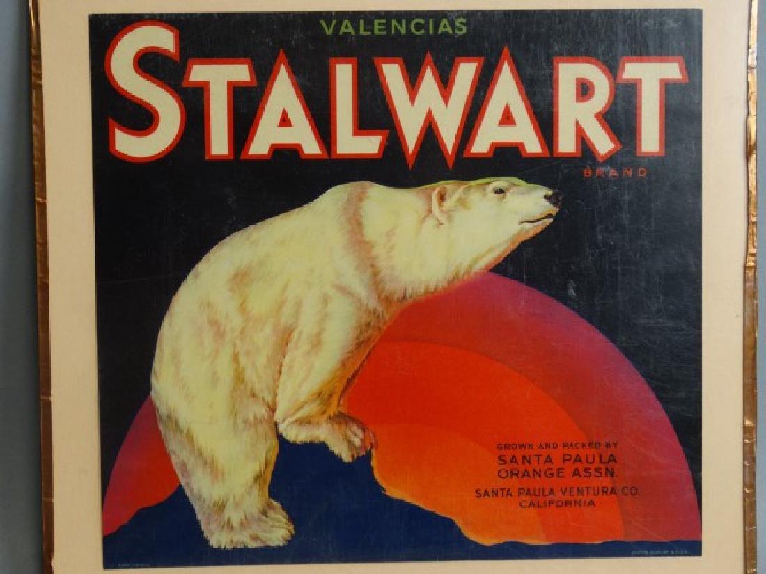 Original Fruit Crate Label - Stalwart Brand Orange - 2