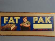 Original Fruit Crate Label  Fat Pak Brand Grapes