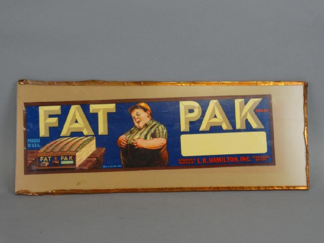 Original Fruit Crate Label - Fat Pak Brand Grapes - 3