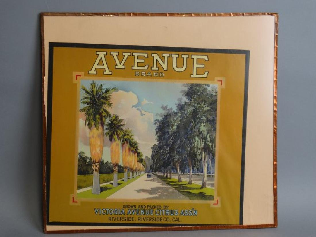 Original Fruit Crate Label - Avenue Brand Citrus - 2