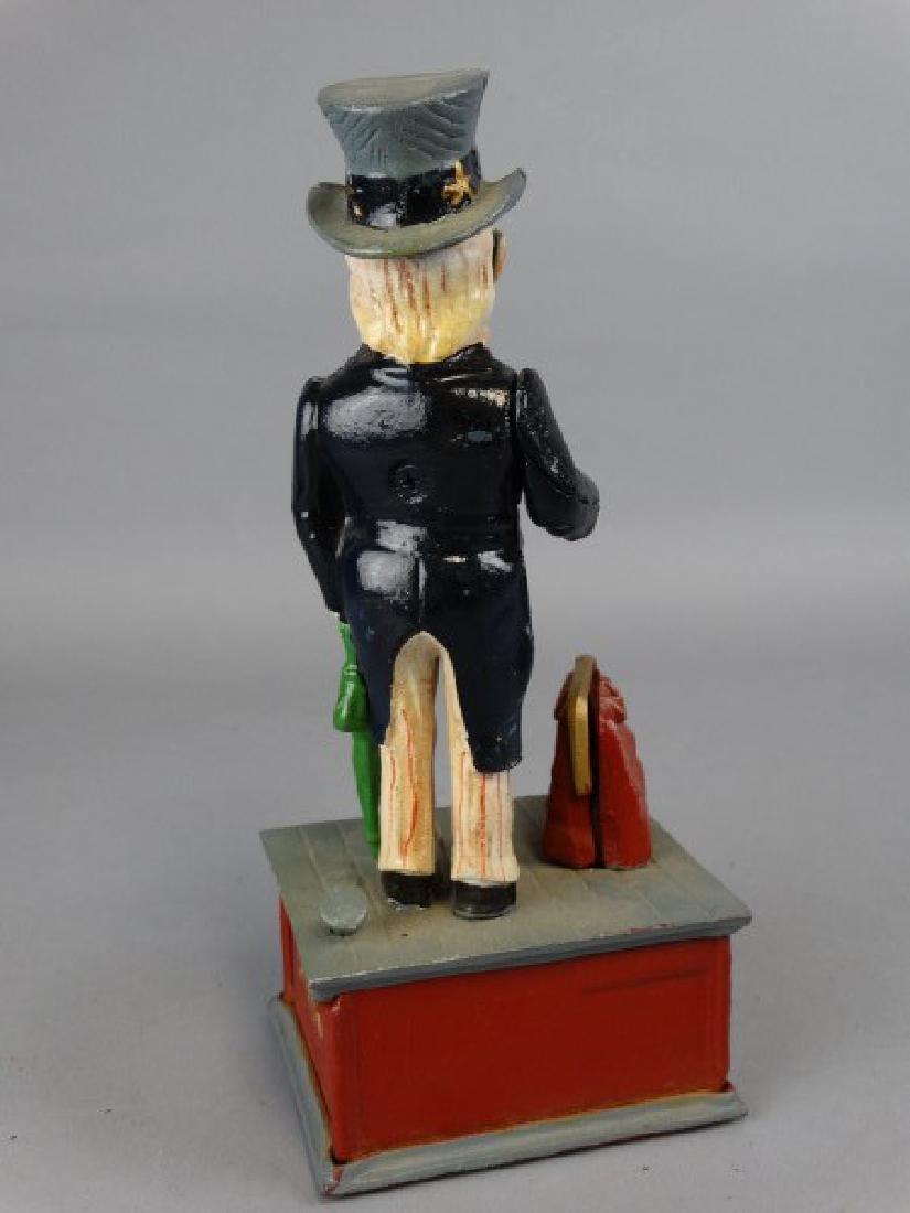 Cast Iron Uncle Sam Bank - 3