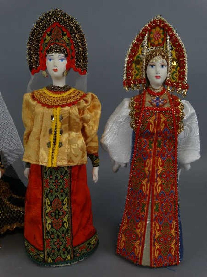 Lot of 4 Russian Porcelain Dolls - 2