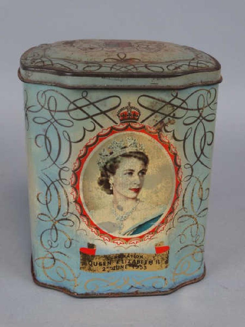 Queen Elizabeth Coronation Tin Tea Caddy
