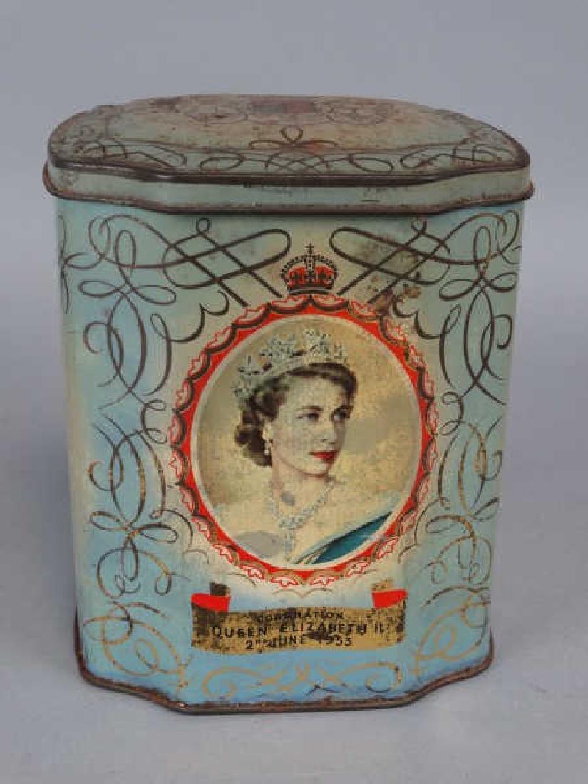 Queen Elizabeth Coronation Tin Tea Caddy