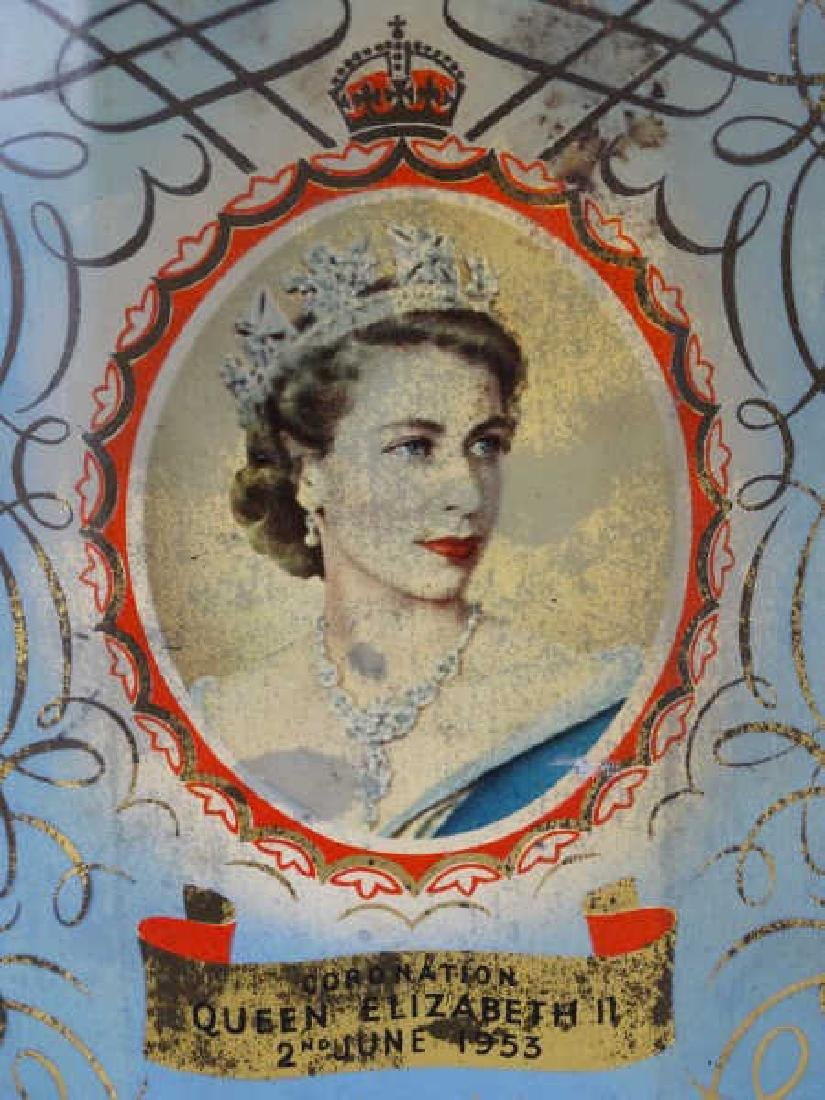Queen Elizabeth Coronation Tin Tea Caddy - 2