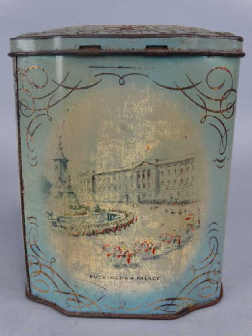 Queen Elizabeth Coronation Tin Tea Caddy - 3