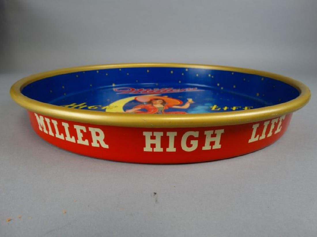 Vintage Miller High Life Round Tray - 2