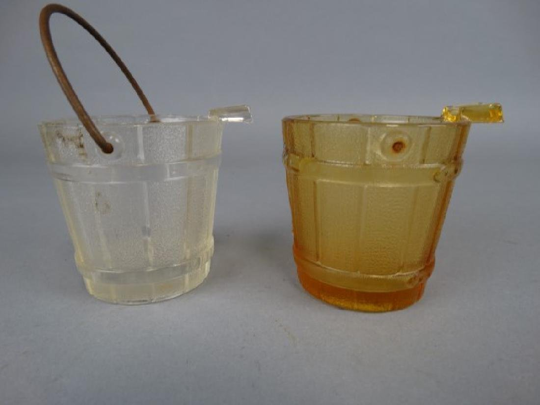 5 Cambridge Glass Bucket & Coal Scuttle Ashtrays - 3