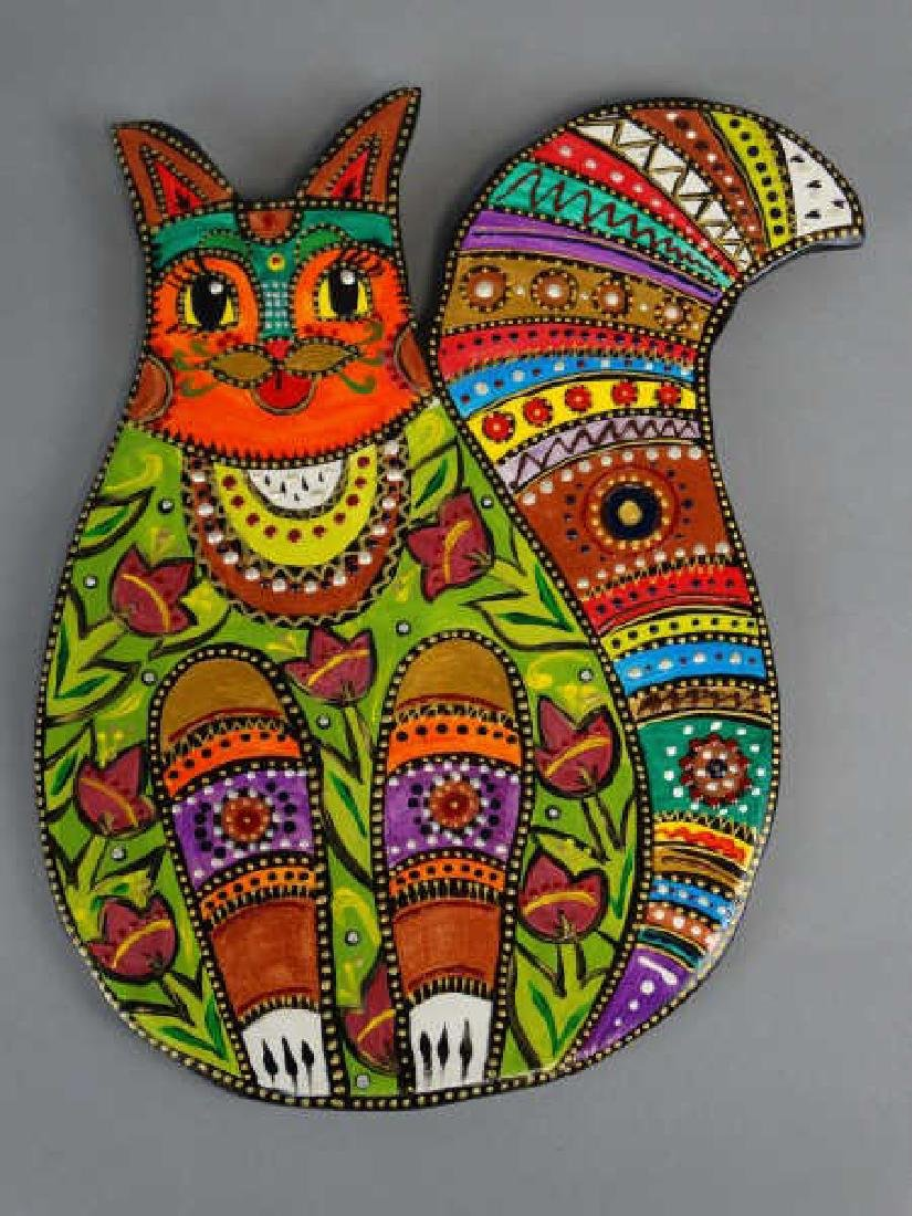 Russian Handpainted Cat Art
