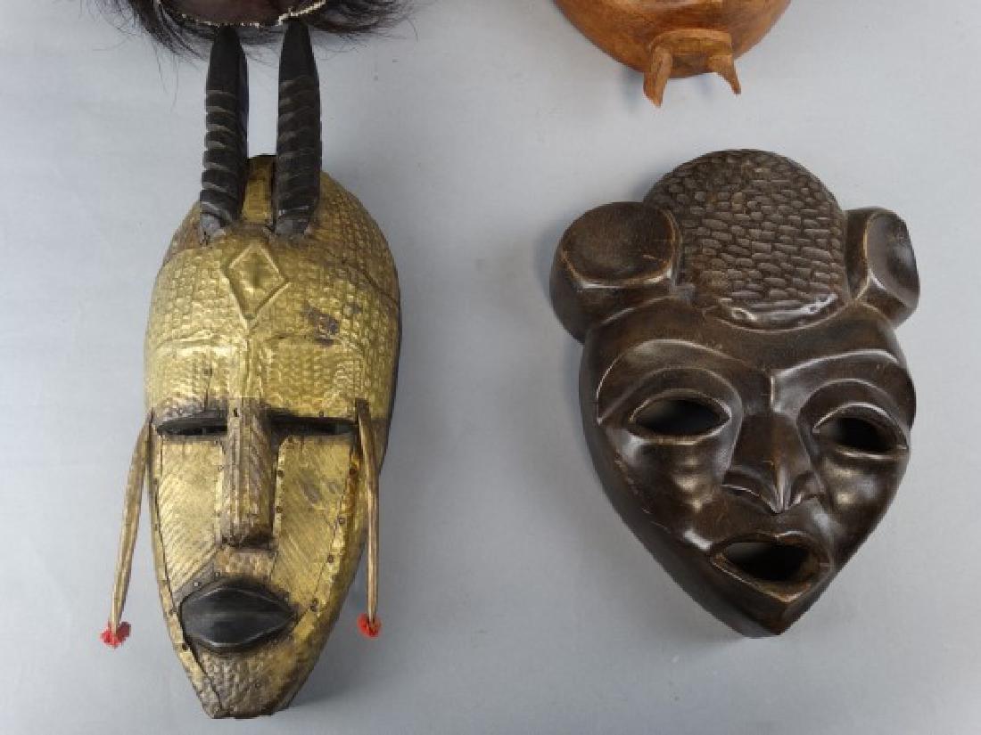 Group of 4 Wooden Ethnographic Masks - 3