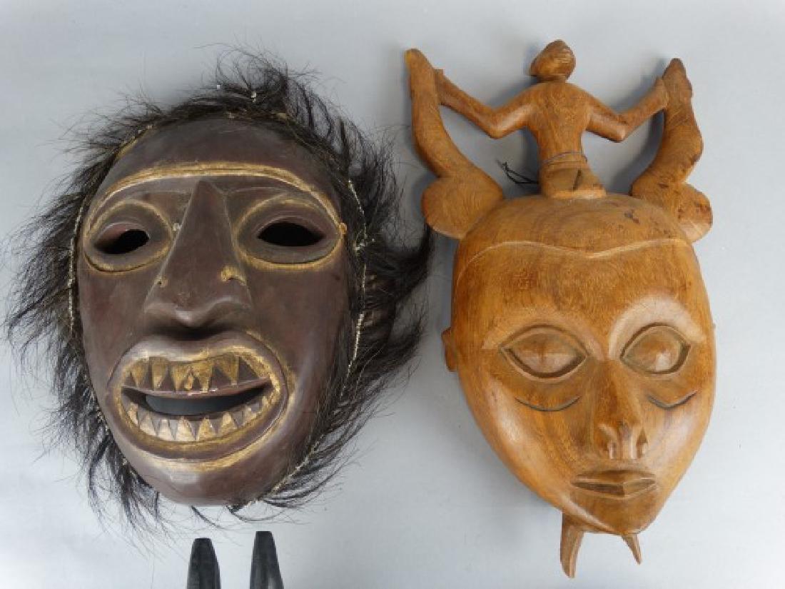 Group of 4 Wooden Ethnographic Masks - 4