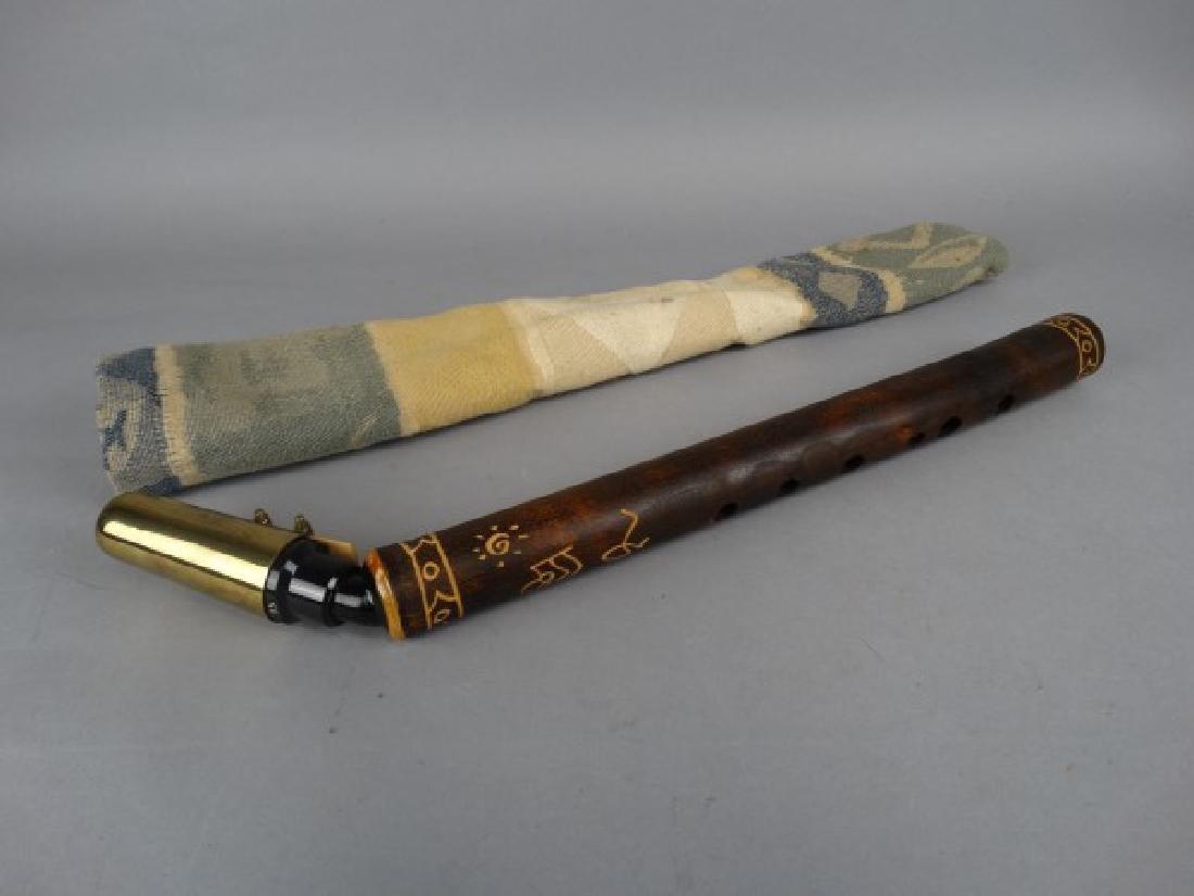 Bamboo Sax, Australian Aborigine Signed