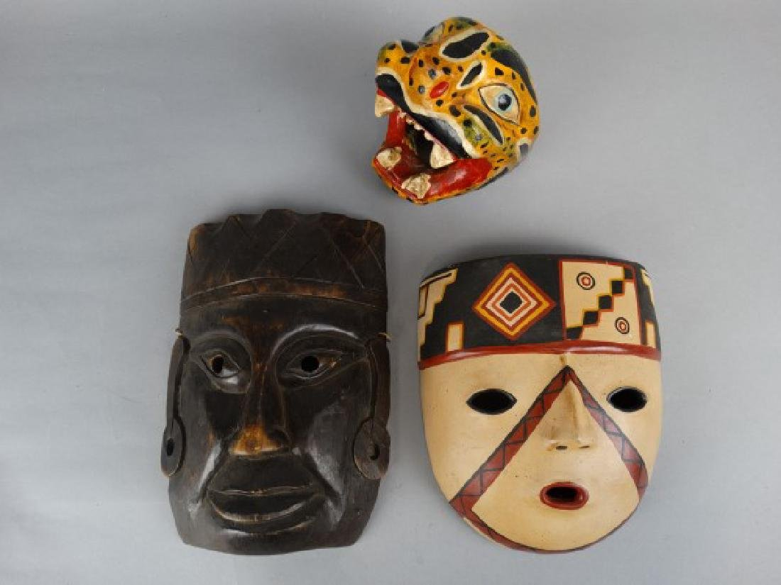 Group of 3 Various Ethnographic Masks