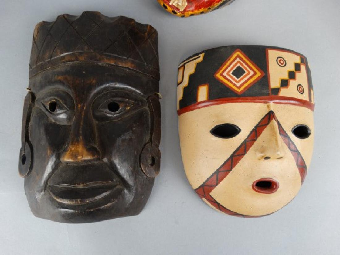 Group of 3 Various Ethnographic Masks - 2