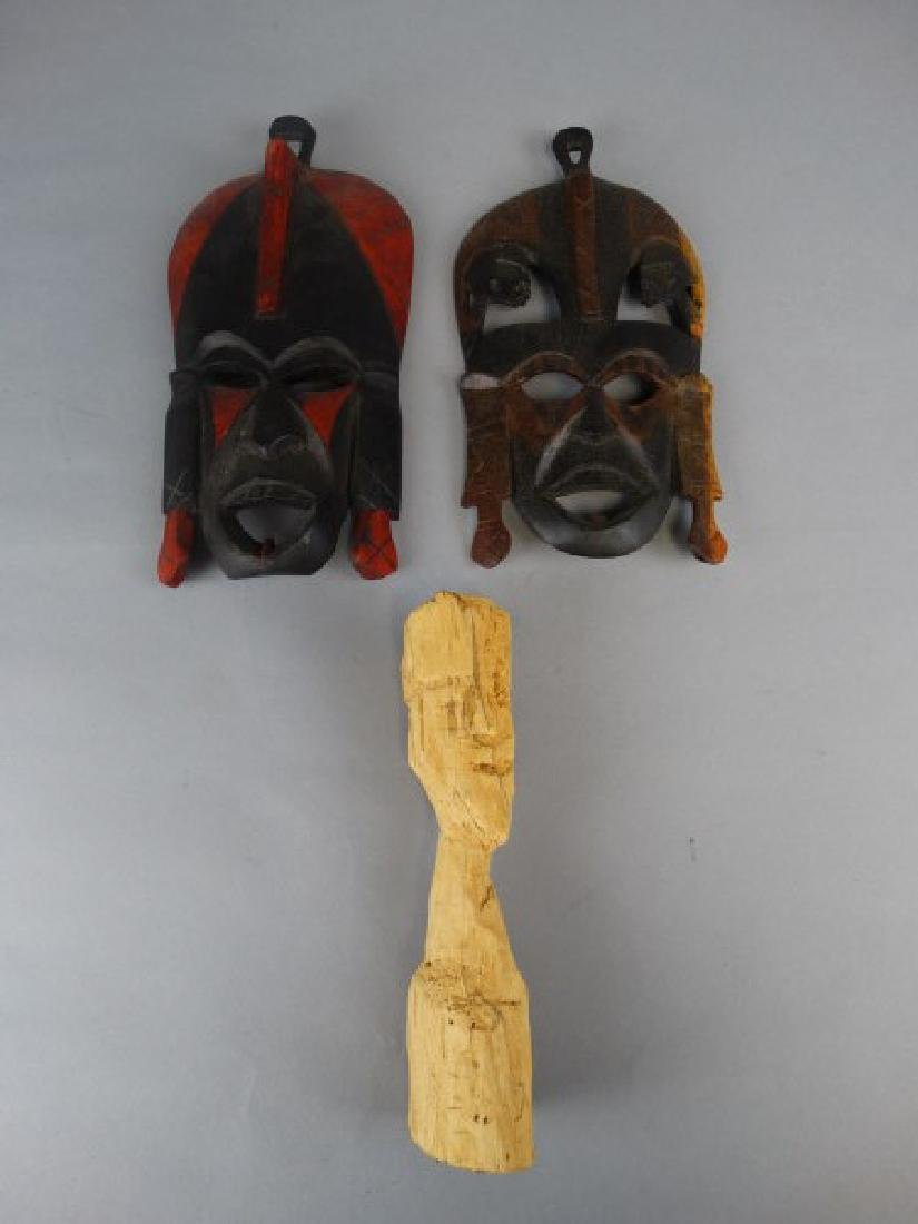 2 Masks & Woodcarving