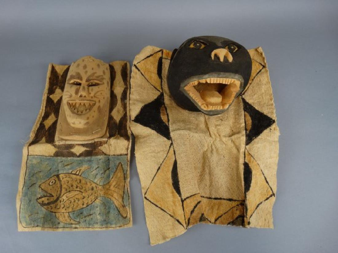 2 Ticuna People, W. Amazon Brazil Masks