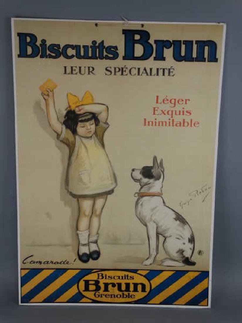 Biscuits Brun Advertising Poster