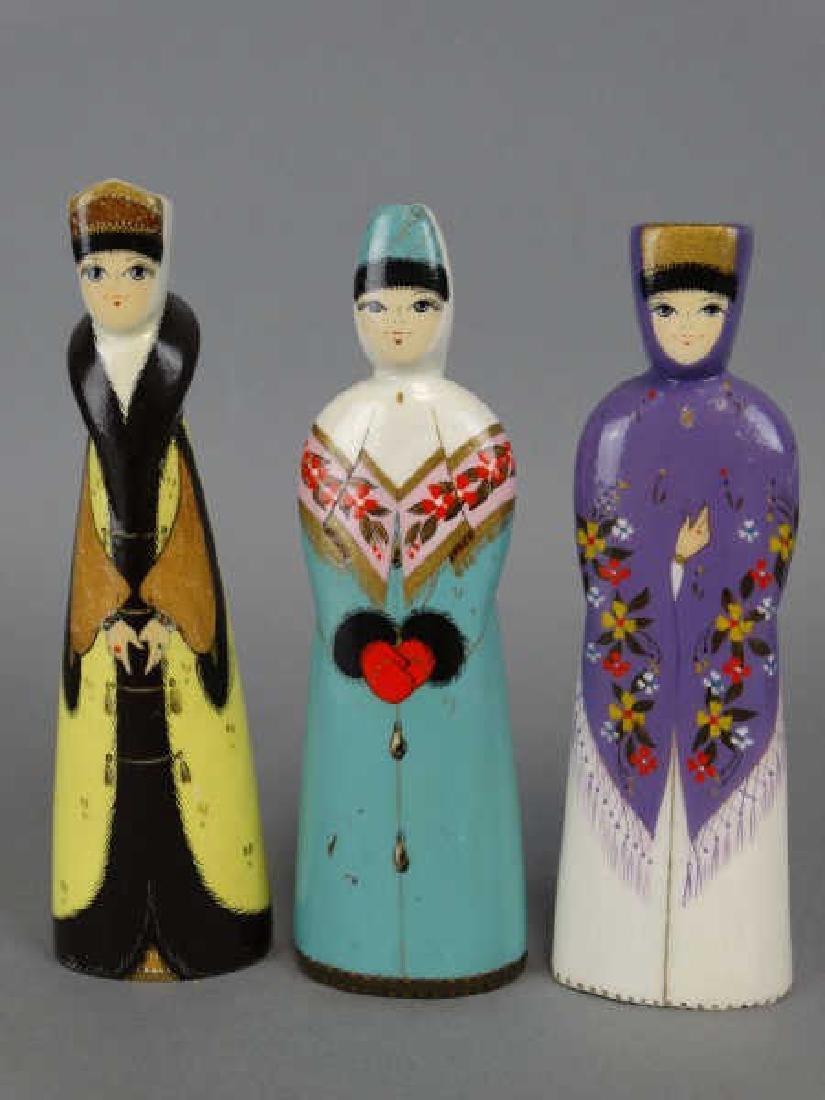 Russian Handpainted Wooden Dolls