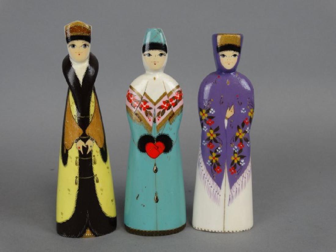 Russian Handpainted Wooden Dolls - 2