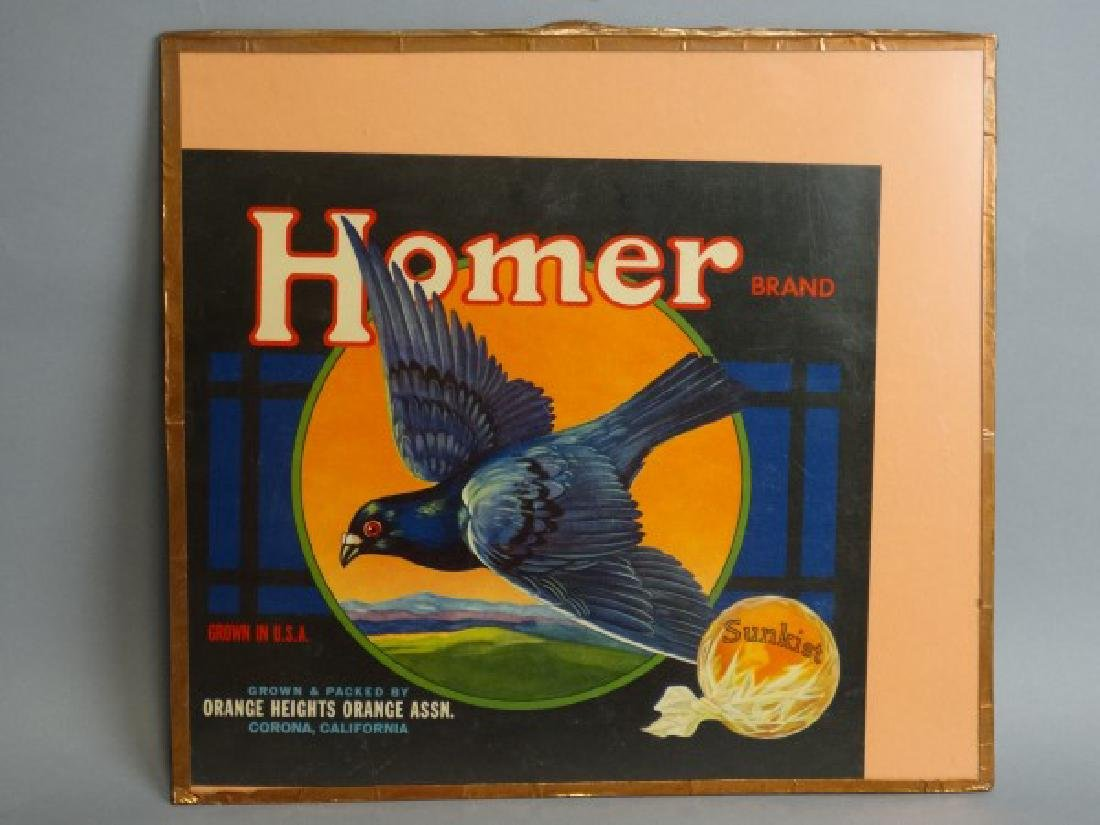 Original Fruit Crate Label - Homer Brand Oranges - 2