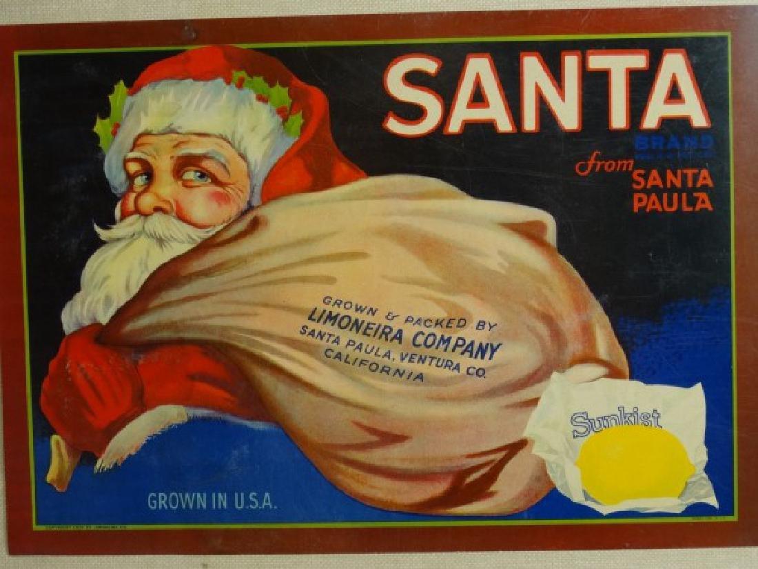 Original Fruit Crate Label - Santa Brand Lemons