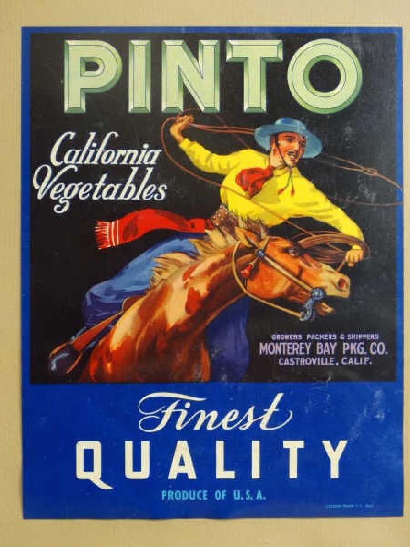 Original Fruit Crate Label - Pinto California Veg.