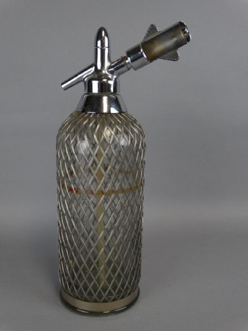 Wire Covered Antique Seltzer Bottle