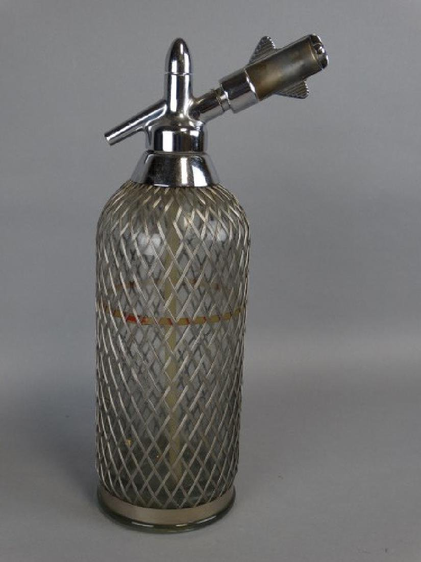 Wire Covered Antique Seltzer Bottle - 2