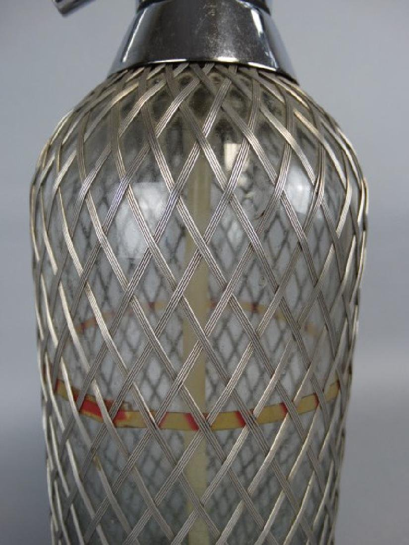 Wire Covered Antique Seltzer Bottle - 3
