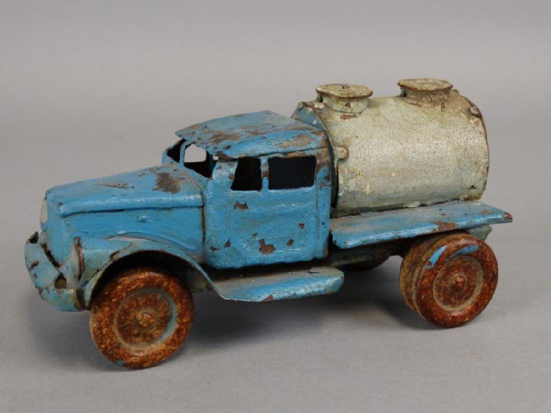 Antique Tin Tanker Truck