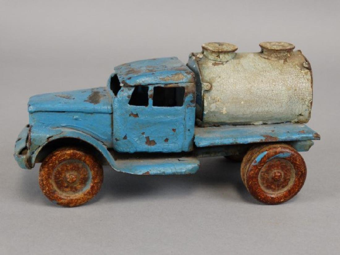 Antique Tin Tanker Truck - 2