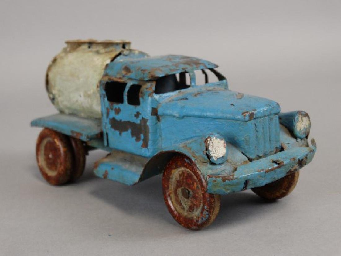 Antique Tin Tanker Truck - 3