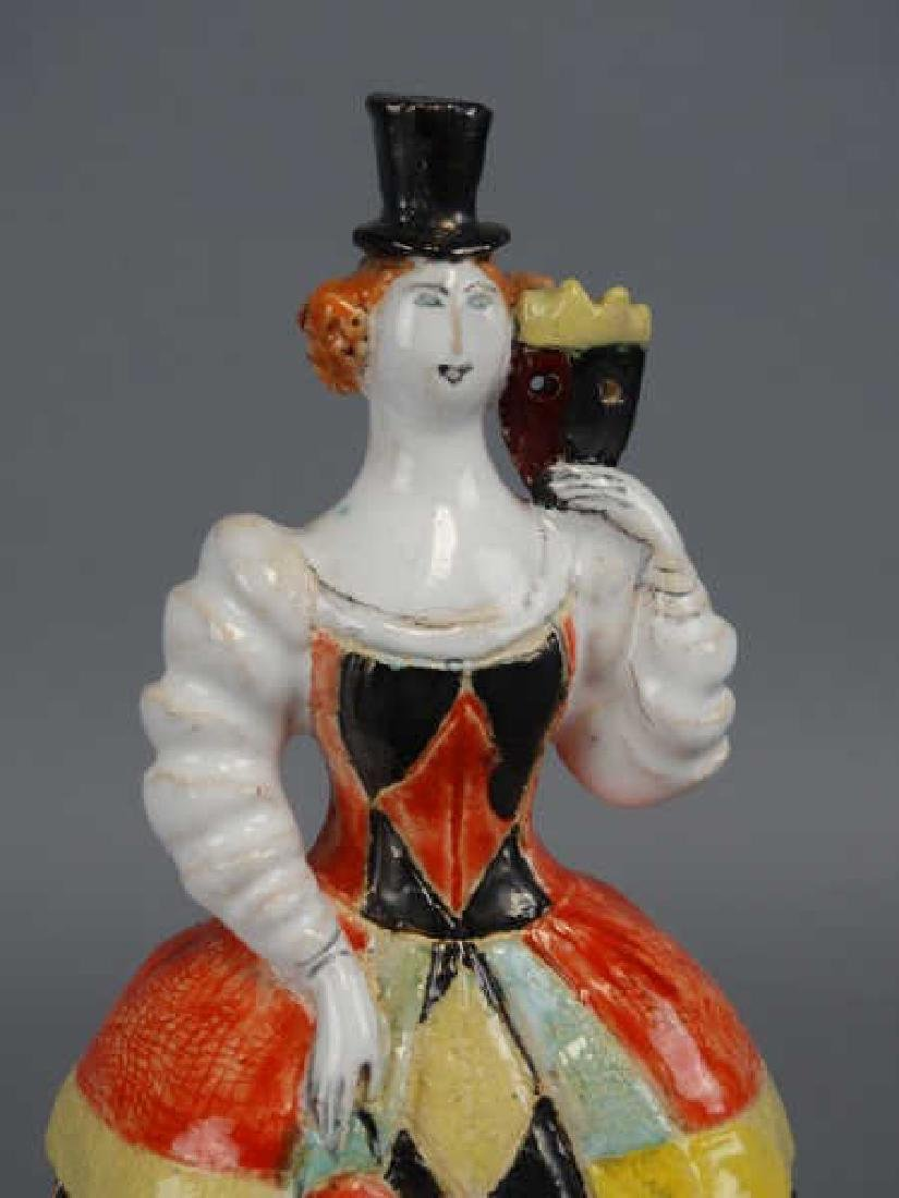 Signed Porcelain Lady Sculpture - 2