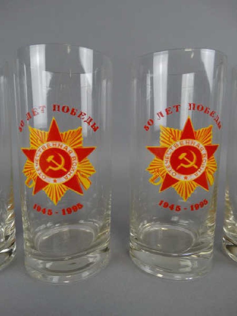 Lot of 6 Russian Tumbler Glasses - 2