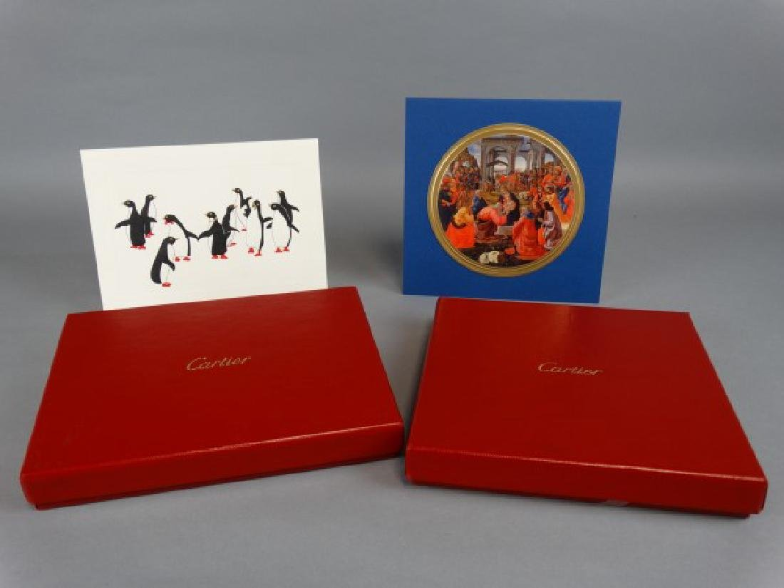 2 Boxes of Cartier Christmas Cards