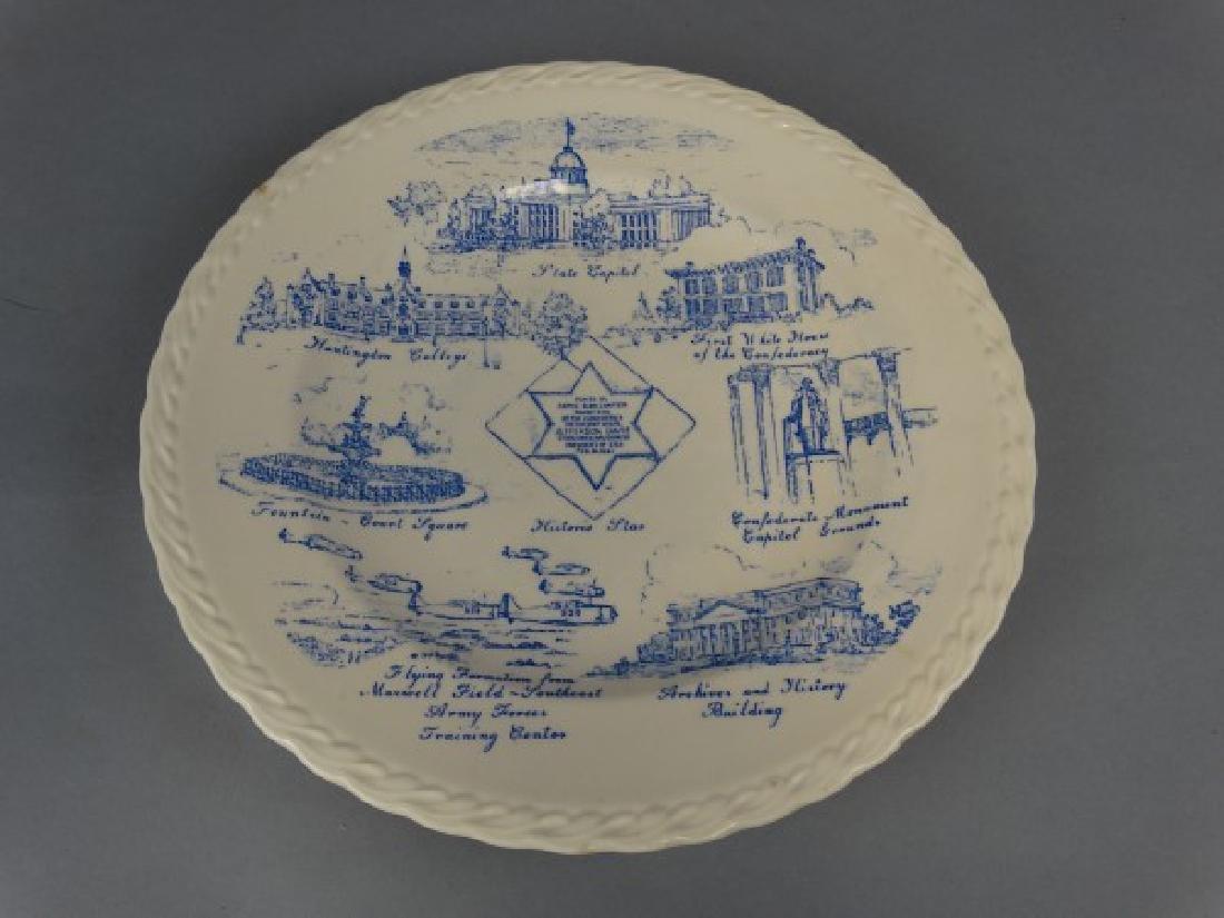 City of Montgomery Alabama Plate by Vernon Kilns