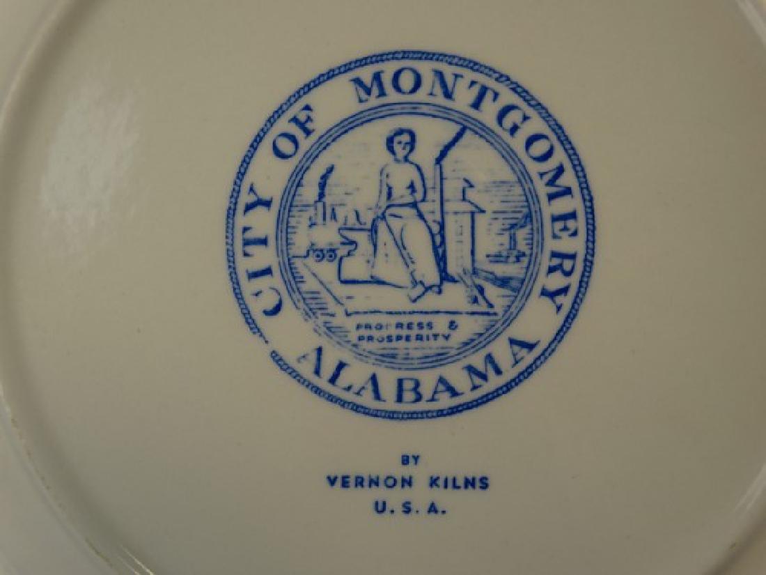 City of Montgomery Alabama Plate by Vernon Kilns - 3